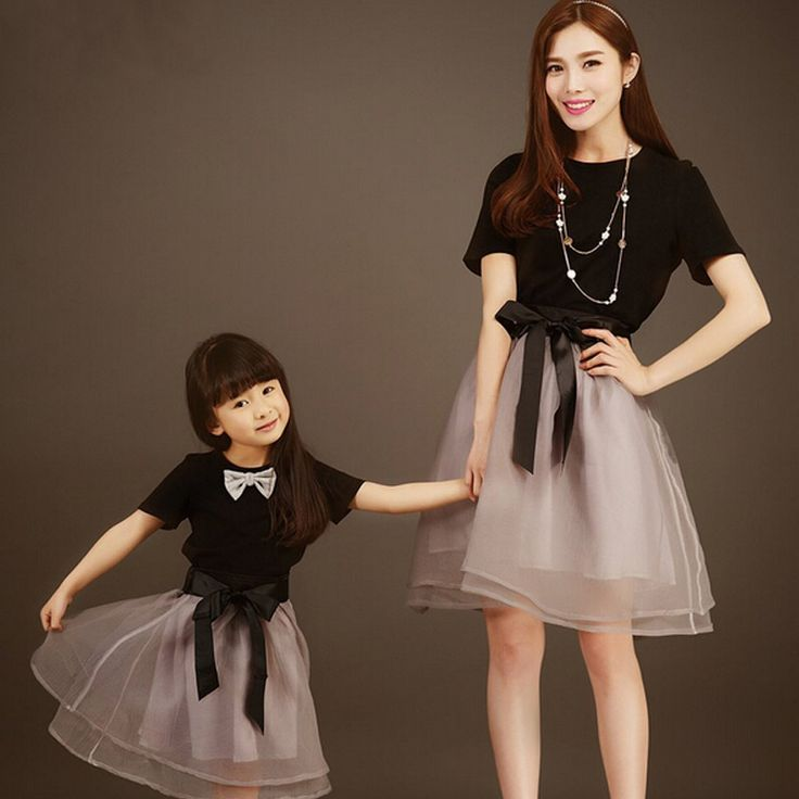 Matching mother and daughter fitted dress. $12 - $15.20 from Aliexpress