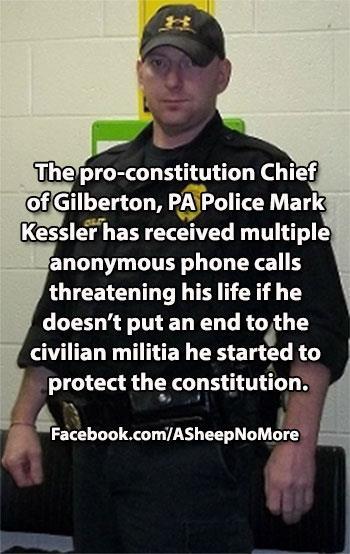 Spooks Threaten To Assassinate Patriot Police Chief Mark Kessler    Full story here: http://beforeitsnews.com/scandals/2013/04/spooks-threaten-to-assassinate-patriot-police-chief-mark-kessler-2431132.html