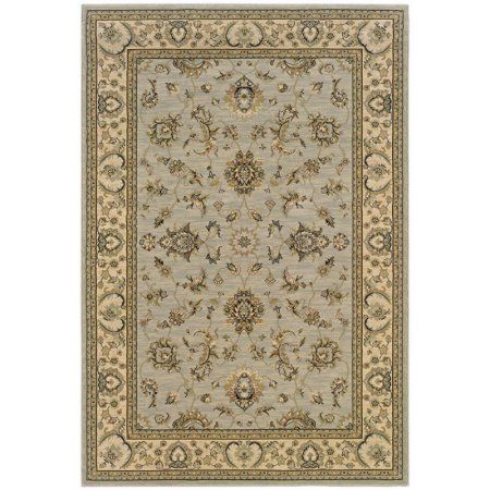 Sphinx Ariana Area Rugs - 2153B Traditional Oriental Blue Vines Leaves Scrolls Border Rug