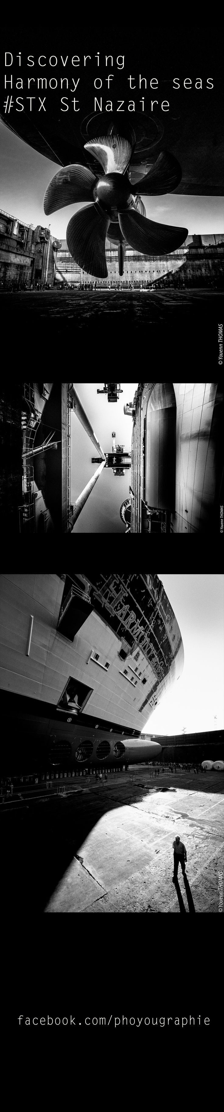 Harmony of the seas, the bigger cruiser liner of the world, under construction in the Saint Nazaire STX shipyard.