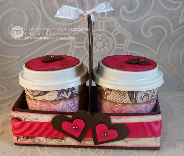 Mini coffee cup holder template *{CraftChaos}*: Club Scrap Valentine Blog Hop