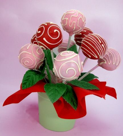 CAKE POP BLOSSOM. A romantic gift to share on Valentine's Day. Say it with cake pop! ^.^