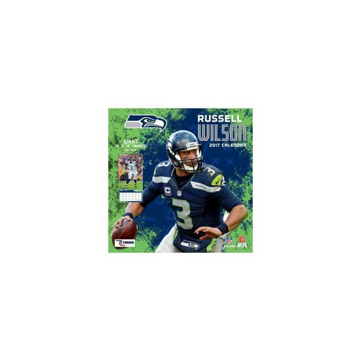 Seattle Seahawks Russell Wilson 2017 Calendar (Paperback)