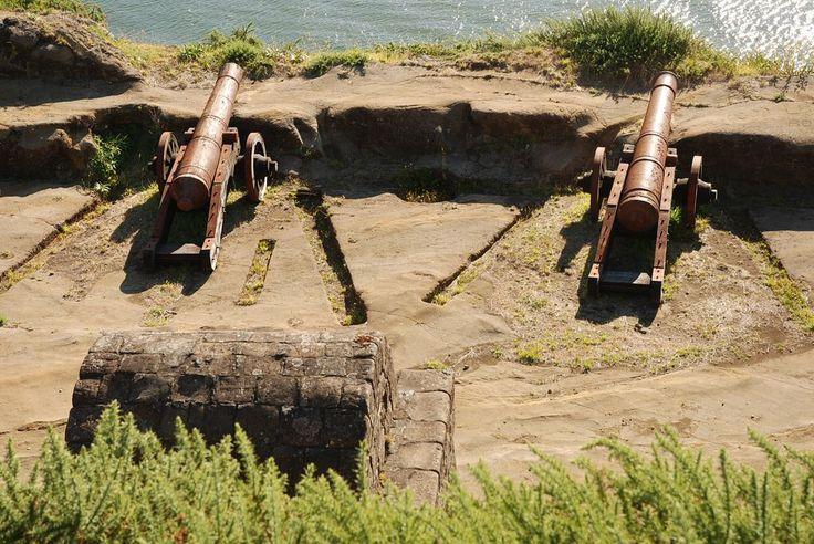 Fuerte de Niebla, Valdivia, cañones coloniales