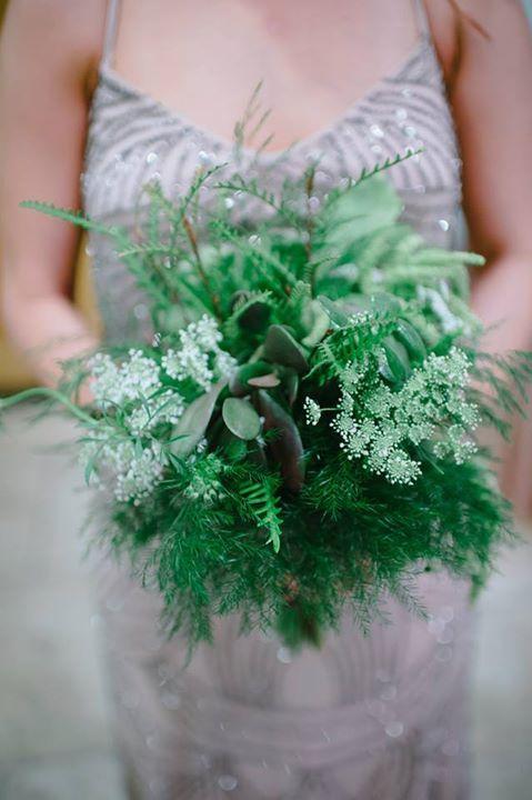 Unique greenery bouquet - Floral design by Kari Shelton