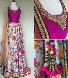 Buy multicolor bhagalpuri embroidery unstitched lehenga choli ghagra-choli online