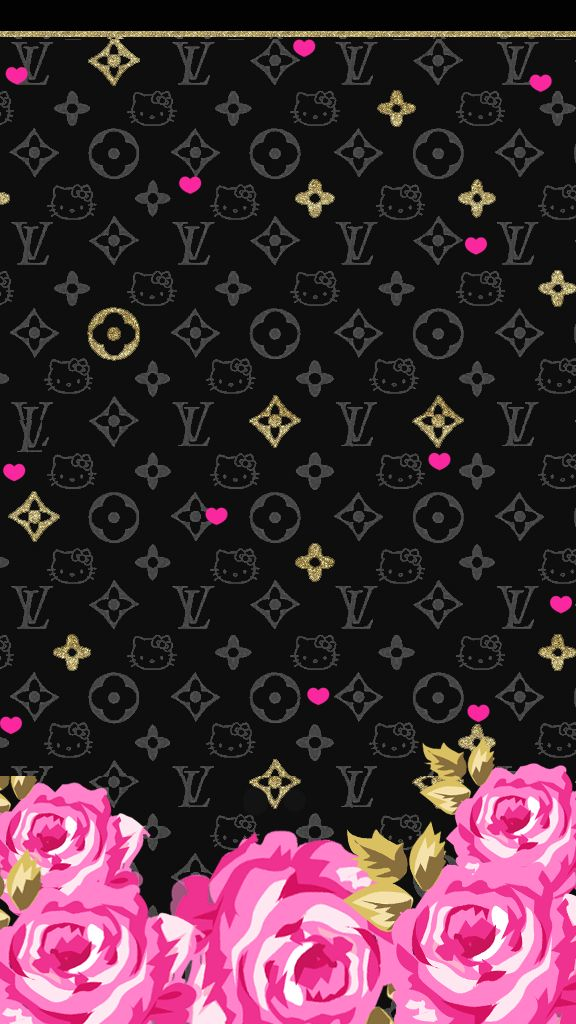 Cute Glitter Iphone Wallpaper Love Pink Pink Black Wallpaper Freebie Pink And Black