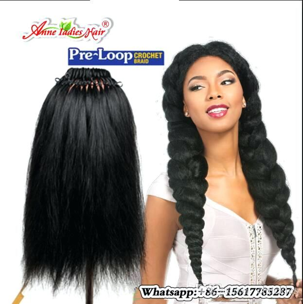 Crochet Straight Hairstyles Loop Straight Hair Crochet Braids