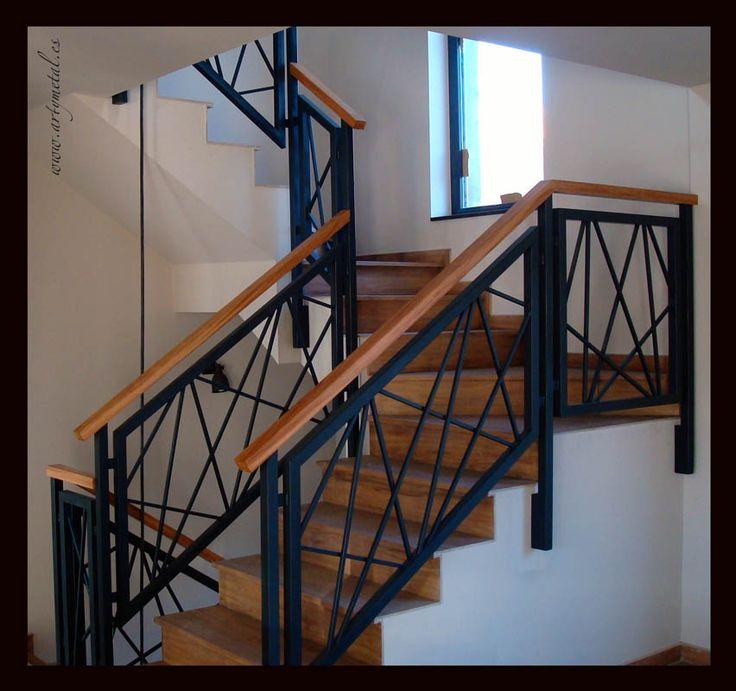 Las 25 mejores ideas sobre barandillas de hierro forjado - Barandillas de hierro para escaleras ...