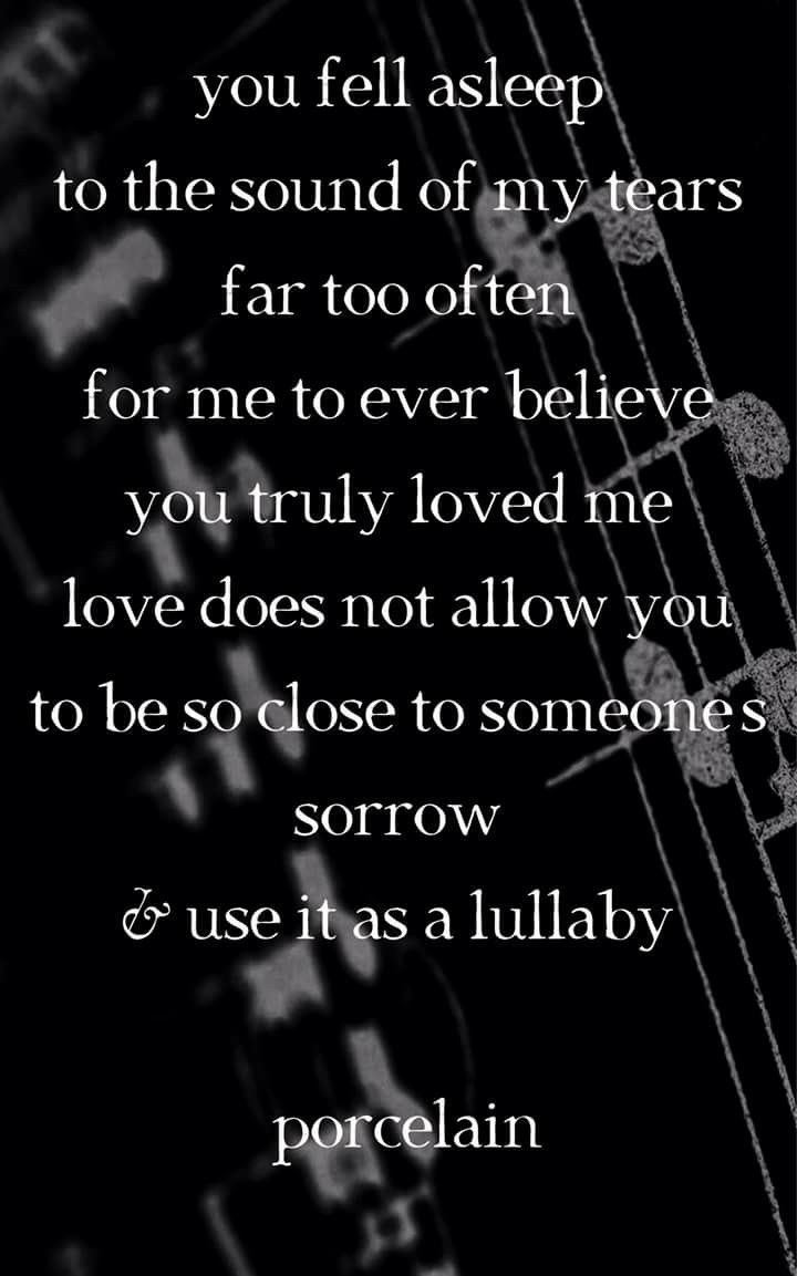 Or cause someone's sorrow