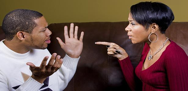 arguing couple nagging woman