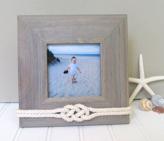 Nautical Picture Frame - 4x4 - Sailors Knot - Rope Decor by Golden Gray