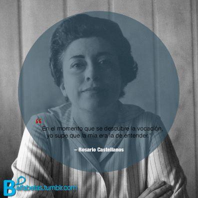 Mujer que sabe latín, feminista a la mexicana, narradora, poeta, periodista, diplomática, Rosario Castellanos nace #undíacomohoy de 1925 en la Ciudad de México.