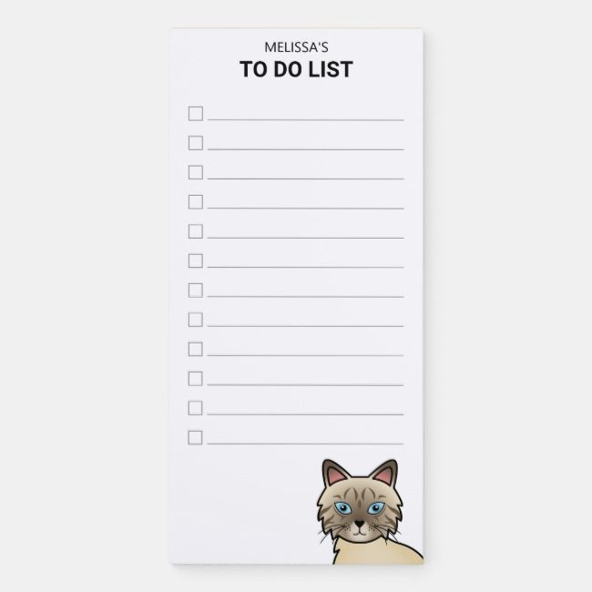 Chocolate Point Tabby Birman Cat To Do List | Birman cat ...