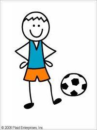 Me & My Peeps™ Iron-ons - Soccer Boy