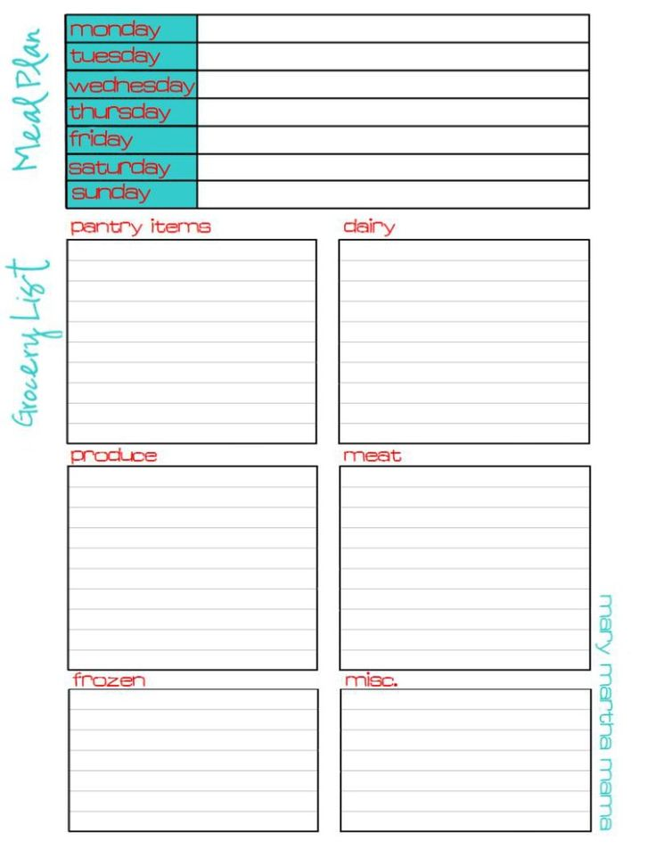 The 25+ Best Grocery List Printable Ideas On Pinterest | Free