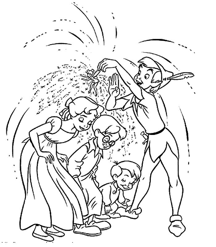 109 Best Kid Book Exchange Party Images On Pinterest Drawings - peter pan coloring pages free print