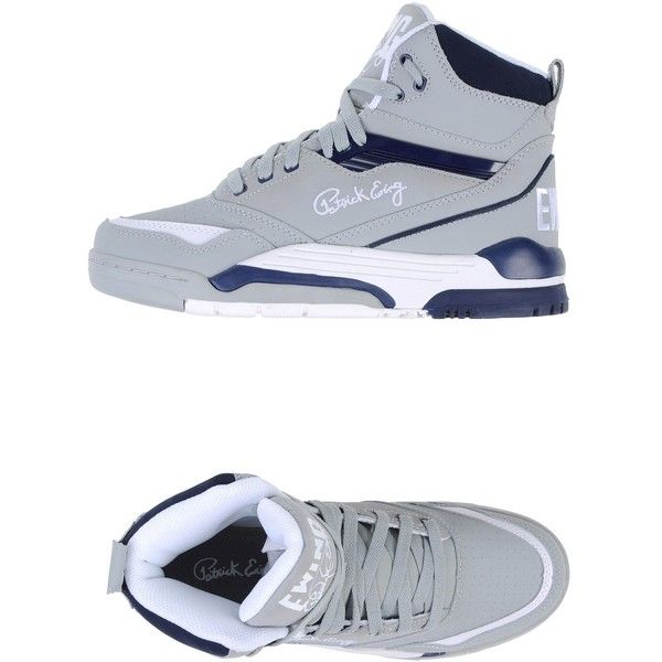 Patrick Ewing Sneakers (15485 RSD) ❤ liked on Polyvore featuring men's fashion, men's shoes, men's sneakers and grey