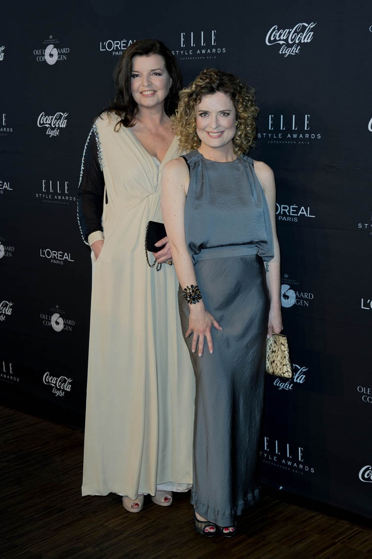 Femina's chief editor Camilla Kjems (right) in AW13 dress at ELLE Style Awards 2013.