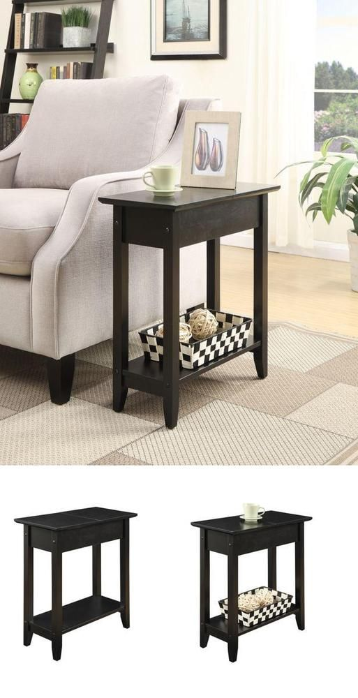 Hall Table Flip Top Hinged Table Top Living Room Decoration Kitchen Party  #ConvenienceConcepts => Easy & pleasant transaction => Quick delivery => 100% Feedback => http://bit.ly/24_hours_open #Hall,#Table,#Coffee,#Corner,#Furniture,#Decoration