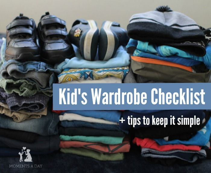 Checklist for a year's worth of clothes for kids plus tips for keeping it as simple as possible