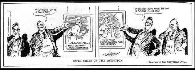 Both Sides of the Question Cartoon (date unknown, Cleveland News)