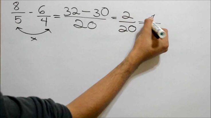 !Como restar fracciones con diferente denominador¡