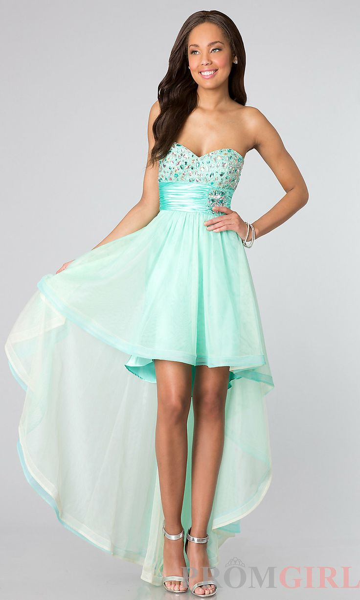 Strapless High Low Dresses, Strapless Junior Prom Dress ...