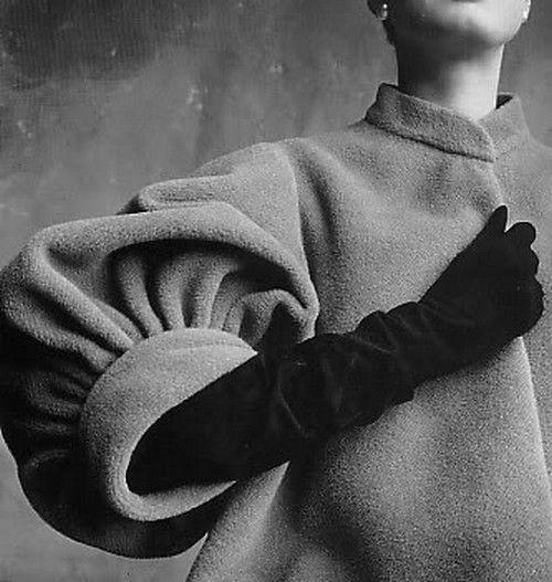 Coat by Balenciaga; photo by Irving Penn.