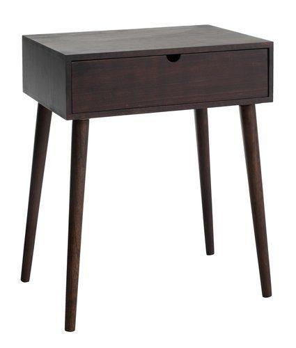 Yöpöytä ILBRO 1 laatikko ruskea | JYSK