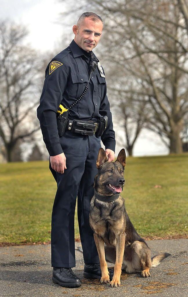 Law enforcers: men in uniform and GSDs...handsome!