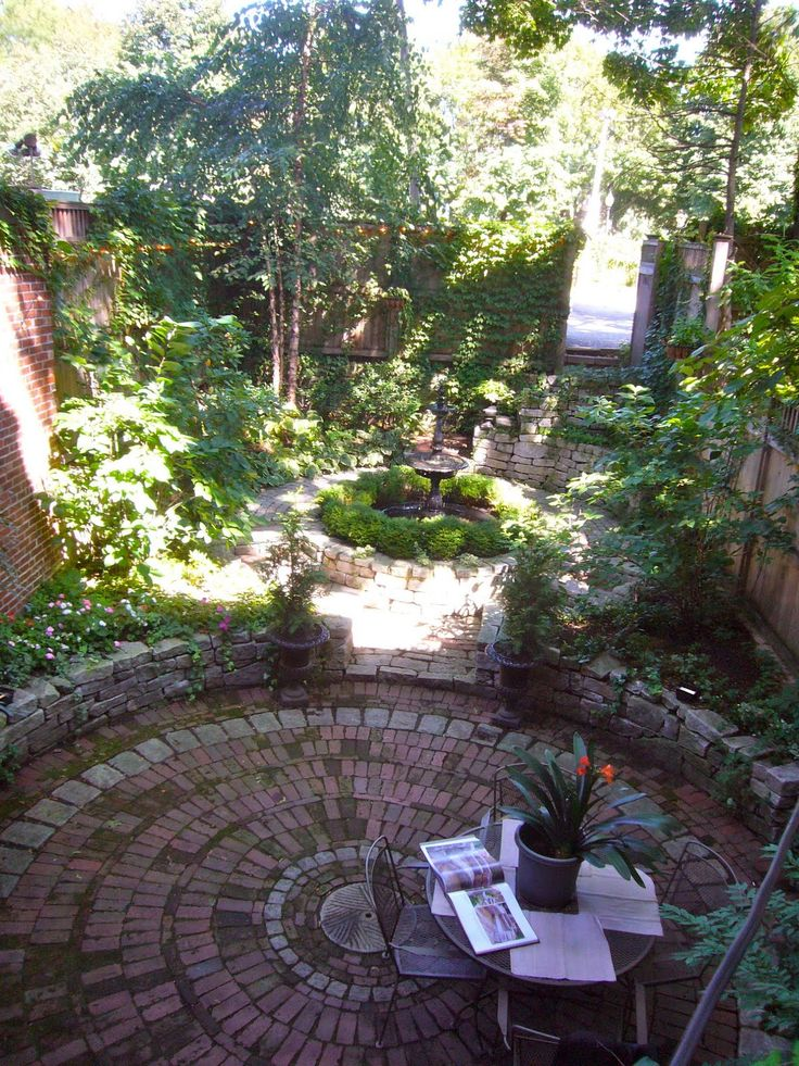 ZEN Garden  Brick Patterns For A Round Patio Area U003cbru003eA Proper Bostonian:  Gorgeous Garden In The South End Part 88
