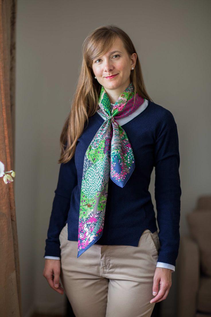 Dans Un Jardin Anglais, Hermes scarf, regate scarf ring, knot, knotting, tutorial, hermes carre, Hermes Schal, эрмес, платок, карре, как красиво завязать платок, how to wear a scarf