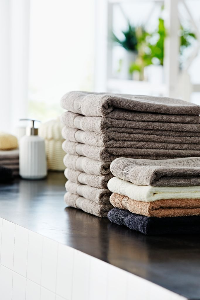 Comfy cosy towels available in a range of colours and sizes from jysk