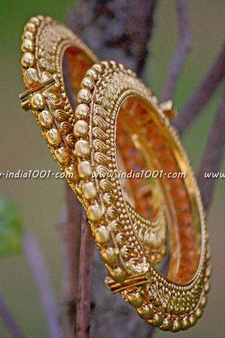 Openable Antique Gold Kadas ( bangles)