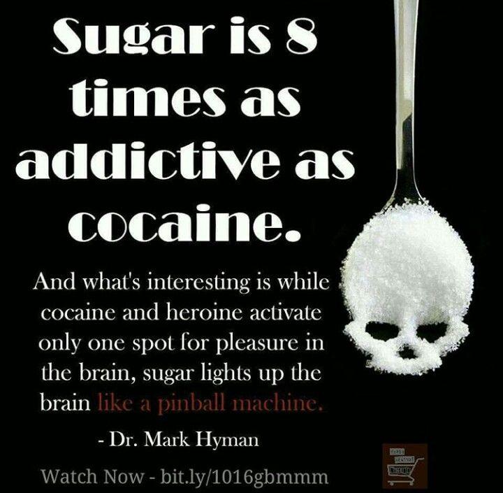Sugar is as addictive as coke.