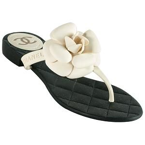 Chanel Camellia Thong Sandals - Size 6 / 36   Chanel Shoes from Bag Borrow or Steal™