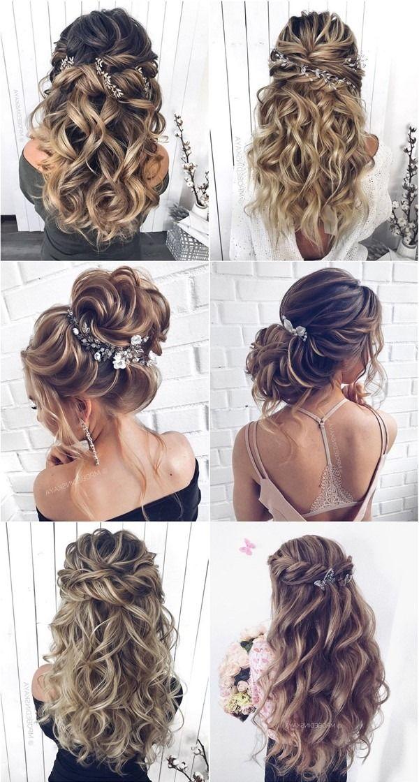 Long half up half down wedding hairstyles and wedding updos from mpobedinskaya   #wedding #weddinghairstyles #hairstyles #hair
