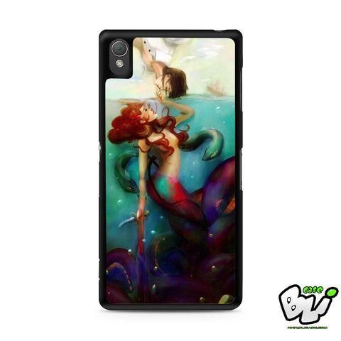 Ariel The Little Mermaid Sony Experia Z3,Z4,Z5,C3,C4,E4,M4,T3 Case,Sony Z3,Z4,Z5 MINI Compact Case