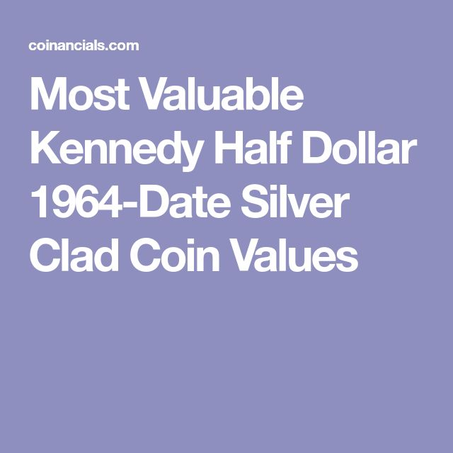 Most Valuable Kennedy Half Dollar 1964-Date Silver Clad Coin Values