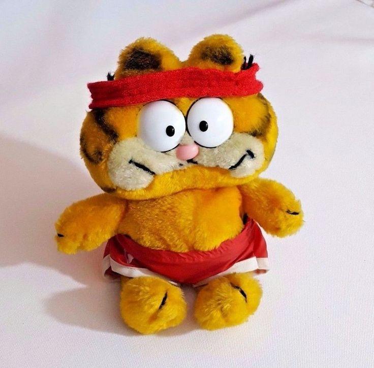 "1978 Vintage Stuffed Plush 9"" Garfield the Cat Cartoon Toy Collectible Tennis   #unitedfeaturesyndicateinc"