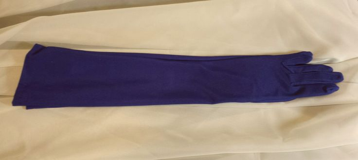 Purple Satin over the Elbow Length Gloves by MarysVintageLoft on Etsy