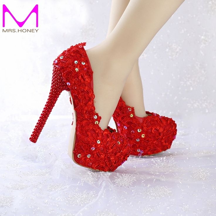 67.19$  Watch now - http://alioxu.worldwells.pw/go.php?t=32497032863 - 2016 Women Pumps Fashion Wedding Shoes Red Color Glittering Platform Party Prom Shoes Spring And Summer Formal Dress Shoes 67.19$