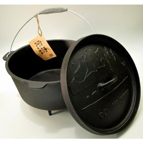 Old Mountain Cast Iron Preseasoned 8 Quart Dutch Oven with Feet ** Be sure to check out this awesome product.(This is an Amazon affiliate link and I receive a commission for the sales)