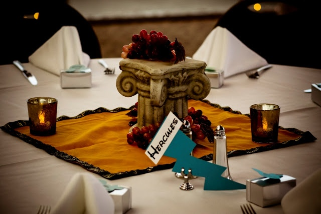 Ultimate Disney Weddings Centerpieces - Hercules