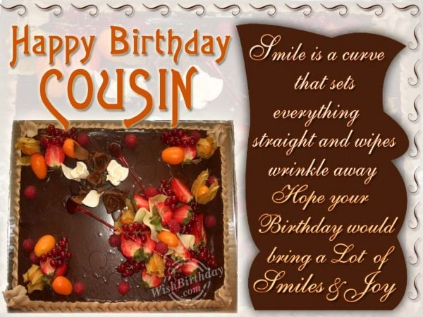 18 best cousin images – Happy Birthday Cousin Card