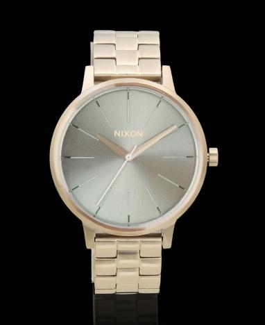 Nixon 'Kensington' Silver And Mint Watch Color Silver