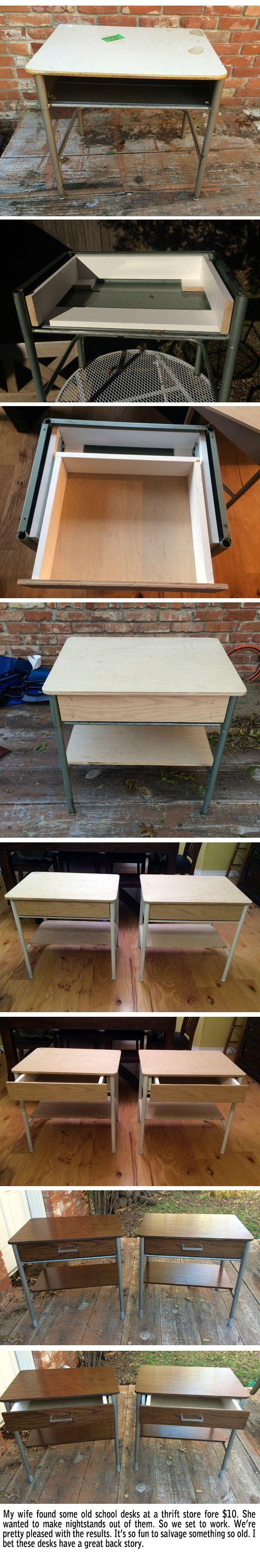 The wife is happy with her school desks - Imgur