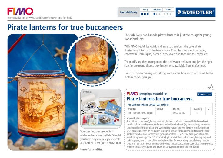 ISSUU - STAEDTLER FIMO liquid pirate lanterns for true buccaneers by STAEDTLER Mars GmbH & Co. KG