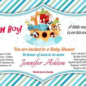 19 best printable customized baby boy shower invitations images on noahs ark shower invitation red blue orange and green stripes each invitation measures or totally customizable wording filmwisefo Image collections